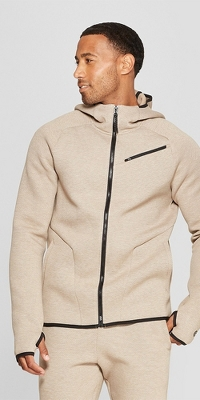 Men's Textured Fleece Full Zip Hoodie - C9 Champion®