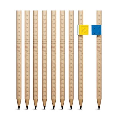 LEGO® Graphite Pencils, 9ct - Brown