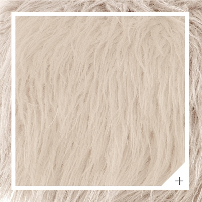 Ottoman Faux Fur with Natural Legs - Skyline Furniture