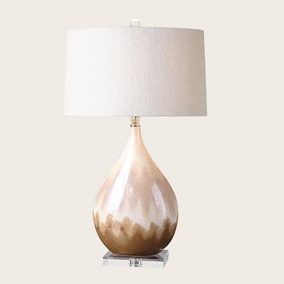 Uttermost Flavian Glazed Ceramic Lamp (Lamp Only) - Beige