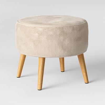 Riverplace Cone Leg Ottoman Furocious Arctic - Project 62™