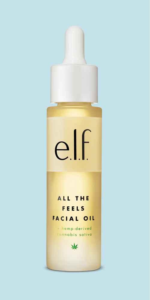 e.l.f. All the Feels Facial Oil + hemp-derived Cannabis Sativa Seed Oil - 1oz