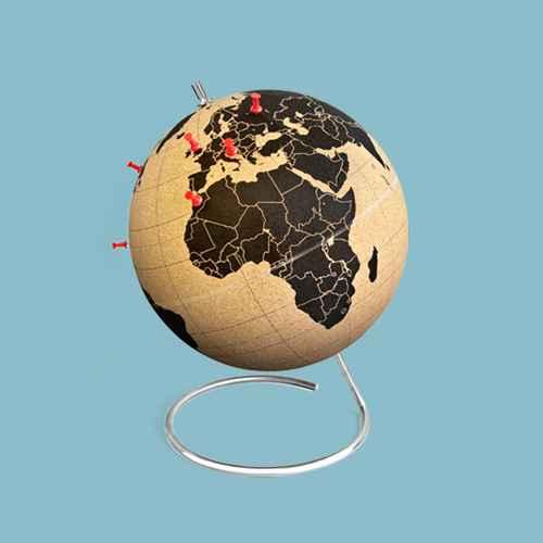 """suckuk Cork World Globe 20"""" Diameter"""