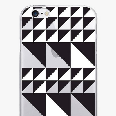 iPhone 7/6s/6 OTM Prints Clear Phone Case Triangle Quilt Black & White - OTM Essentials®