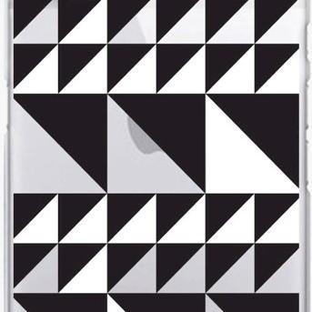 iPhone 7/6s/6 OTM Prints Clear Phone Case Triangle Quilt Black & White - OTM Essentials®