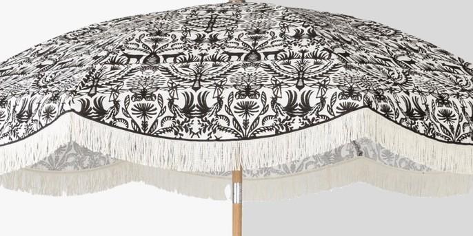 9' Patio Umbrella with Fringe - Black & White - Opalhouse™