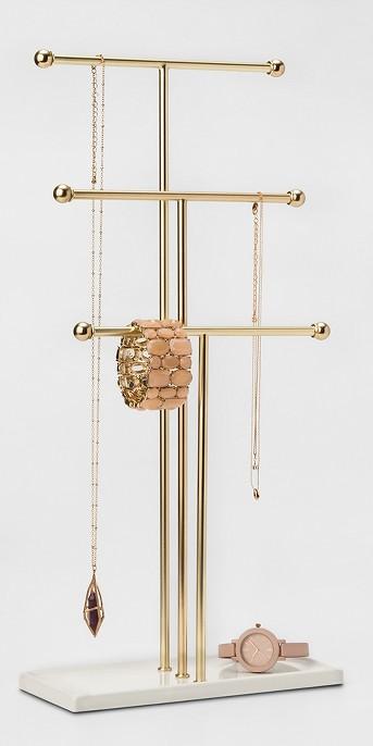 Trigem Jewelry Storage Stand Brass - Umbra