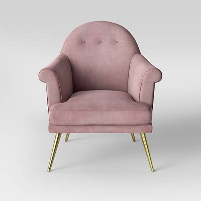 Myna Tufted Velvet Arm Chair with Brass Legs - Opalhouse™