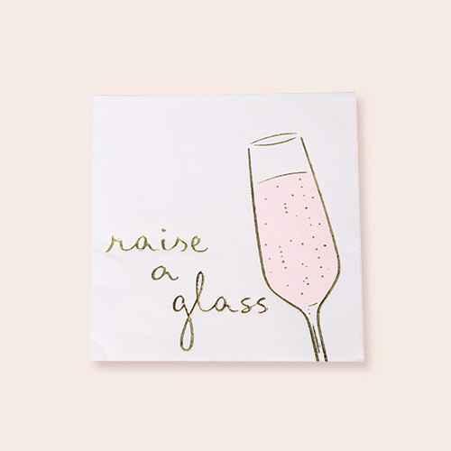 """30ct """"Raise a Glass"""" Beverage Napkin - Spritz™"""