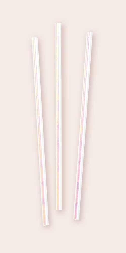 24ct Iridescent Party Straws