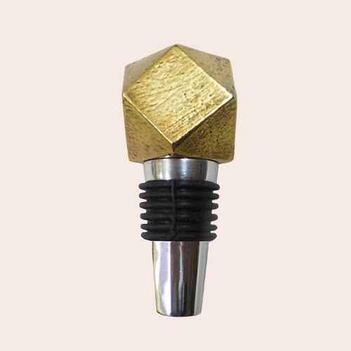 Bottle Stopper Aluminum/Gold - Threshold™