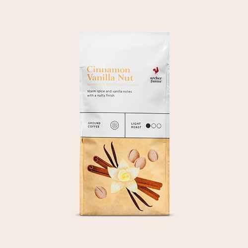 Cinnamon Vanilla Nut Light Roast Ground Coffee - 12oz - Archer Farms™