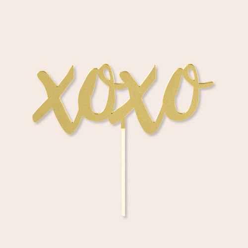 """Xoxo"" Cake Topper"