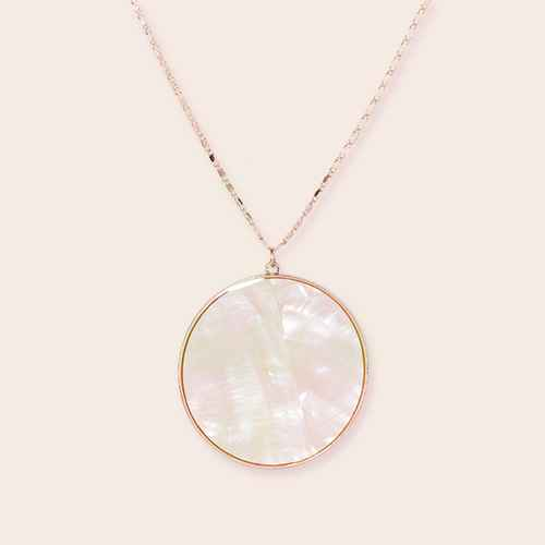 Mother of Pearl Disc Long Necklace - A New Day™