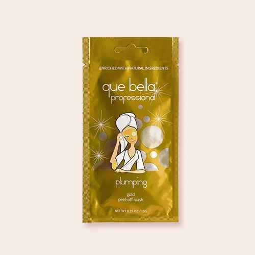 Que Bella Professional Plumping Gold Peel Off Face Mask - 0.35oz