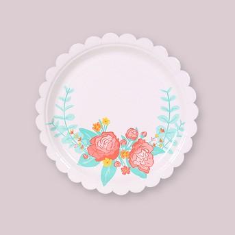 Floral Patterned Disposable Plate - Spritz™