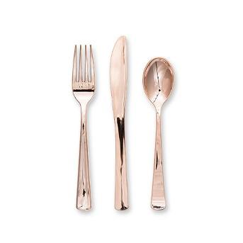 Rose Gold Disposable Forks - 24ct