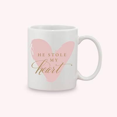 He Stole My Heart Pink Coffee Mug