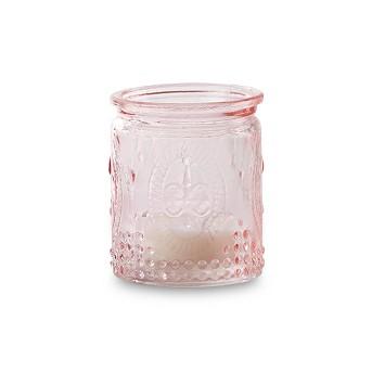 12ct Kate Aspen Vintage Pink Glass Tea Light Holder