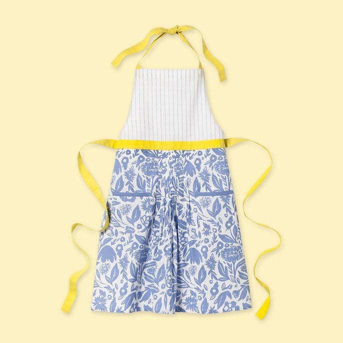 Floral Apron Blue/Yellow - Opalhouse™