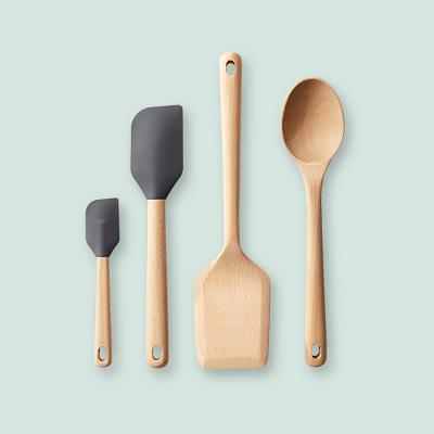 Beech Wood and Silicone Spatula Mini - Made By Design™
