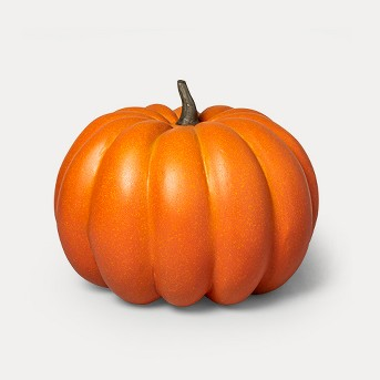 "14"" x 12.5"" Decorative Papier-Mâché Pumpkin Orange - Threshold™"