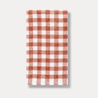 Orange Check Dual Sided Terry Towel - Threshold