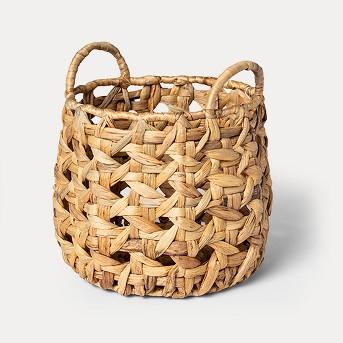 Decorative Open Weave Basket Natural 12.2