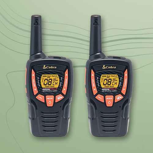 Cobra 25-Mile Walkie Talkies 2 Pk (ACXT345)