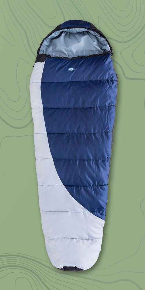 Kamp-Rite 25 Degree Fahrenheit Mummy Sleeping Bag - Blue