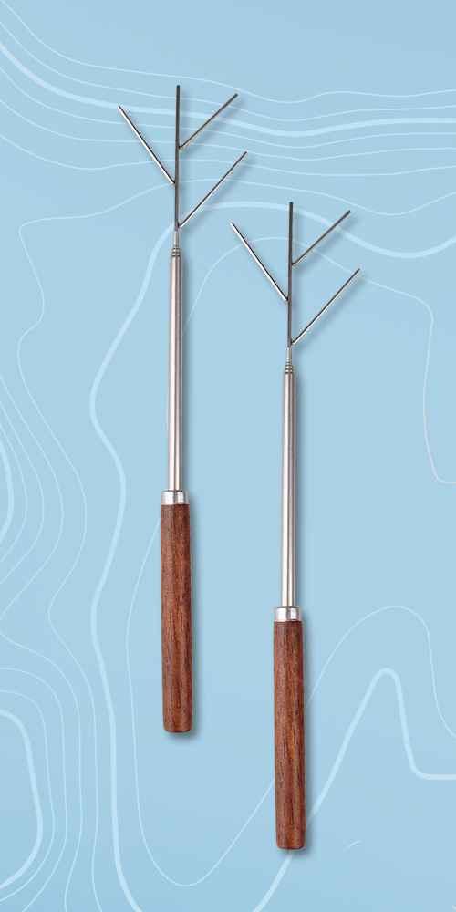 8ct Telescoping Stainless Steel Smores Sticks - Bullseye's Playground™