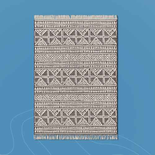 5' x 7' Tasseled Outdoor Rug Charcoal - Opalhouse™
