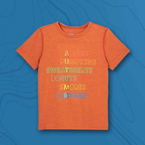 Boys' Adaptive Printed Short Sleeve Graphic T-Shirt - Cat & Jack™ Orange Brown/Russet M