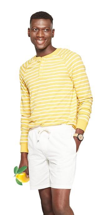 Men's Regular Fit Long Sleeve Jersey Henley Shirt - Goodfellow & Co™