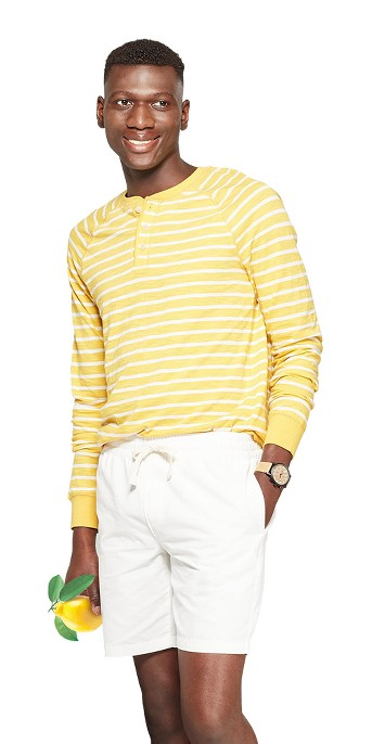 Men's Regular Fit Long Sleeve Jersey Henley Shirt - Goodfellow & Co™