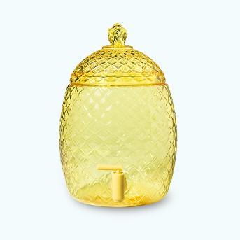 2gal Plastic Pineapple Shaped Beverage Dispenser Yellow - Sun Squad™