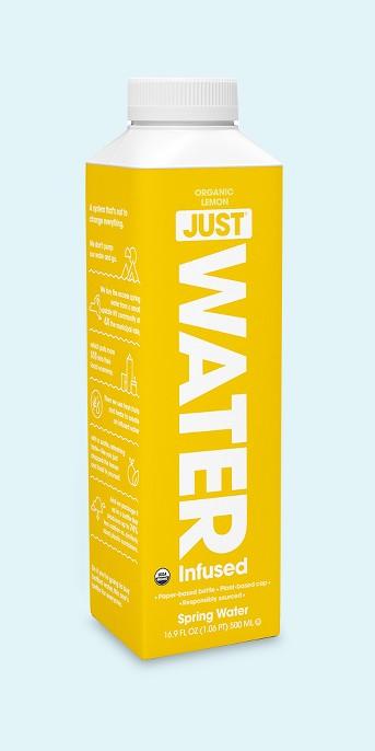 JUST 100% Organic Lemon Infused Water - 16.9 fl oz Bottle