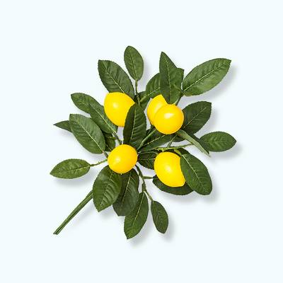 """14"""" x 7"""" Artificial Lemon Bunch Arrangement Yellow/Green - Opalhouse™"""