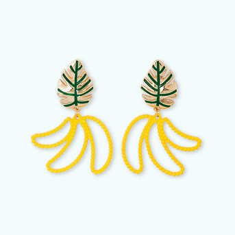 SUGARFIX by BaubleBar Beaded Banana Drop Earrings - Yellow