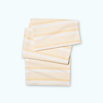 Pick Stitch Table Runner Neutral/Yellow - Opalhouse™