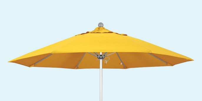 Venture 9' Silver Market Umbrella in Yellow - California Umbrella