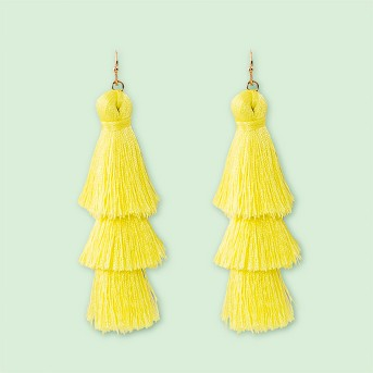 SUGARFIX by BaubleBar Tiered Tassel Drop Earrings