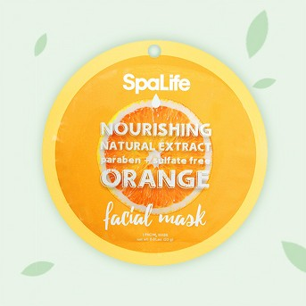 SpaLife Nourishing Facial Mask -  Orange - 0.81 oz