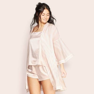 Women's Striped Simply Cool Robe - Stars Above™ Soft Petal Pink