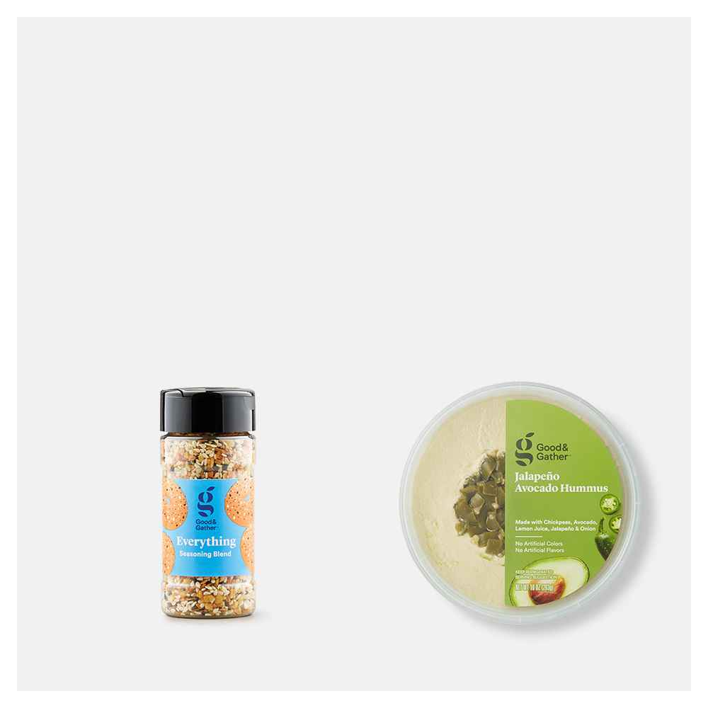 Everything Seasoning Blend - 2.5oz - Good & Gather™, Jalapeno Avocado Hummus - 10oz - Good & Gather™