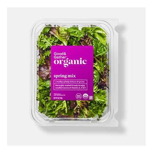 Organic Spring Mix Lettuce - 5oz - Good & Gather™, Organic Power Greens - 5oz - Good & Gather™, Baby-Cut Carrots - 1lb - Good & Gather™, Premium Grape Tomatoes - 10.5oz Package, Mini Cucumbers - 16oz Bag - Good & Gather™