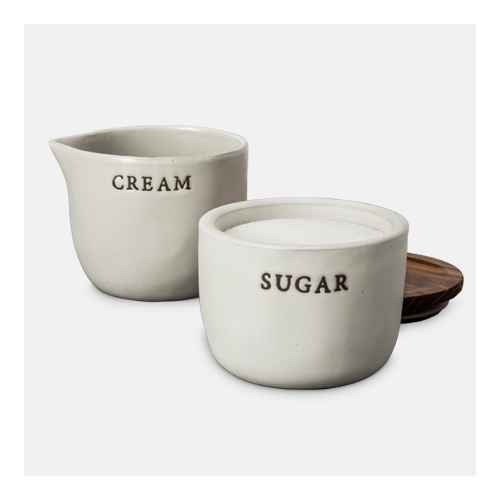 Stoneware Sugar Cellar with Wood Lid - Hearth & Hand™ with Magnolia