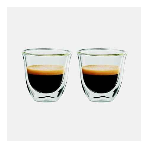 Delonghi Espresso Cups 2pk, Delonghi 6oz Cappuccino Cups 2pk, GROSCHE TURIN Double Walled Glass Espresso Cups -Set of 2,  2.4 fl oz / Single Shot