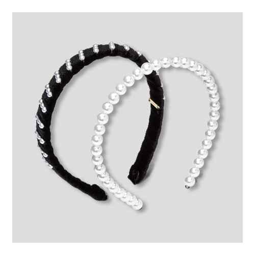 SUGARFIX by BaubleBar Pearl Headband Set 2pc - Pearl