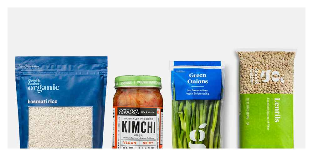 Organic Basmati Rice - 30oz - Good & Gather™, Seoul Vegan Spicy Kimchi - 14oz, Green Onions - 5.5oz - Good & Gather™, Dry Lentils - 1LB - Good & Gather™, Plain Salt - 26oz - Good & Gather™